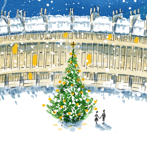 Royal Crescent Bath Snow 2017
