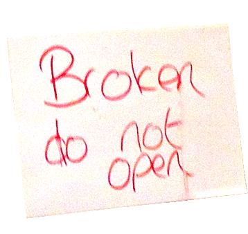 Broken do not open